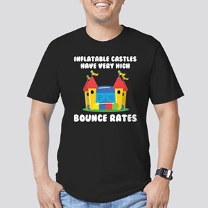 Bounce Rates Men's Fitted T-Shirt (dark)
