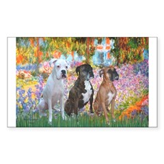 Garden / 3 Boxers Sticker (Rectangle 10 pk)