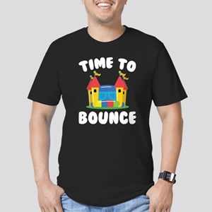 Time To Bounce Men's Fitted T-Shirt (dark)