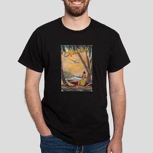Vintage Hawaiian Travel Art - Hawaii Hula T-Shirt