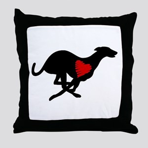 Greyhound Throw Pillow/Heart Hound