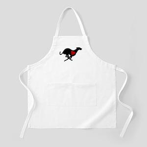 Greyhound BBQ Apron/Heart Hound
