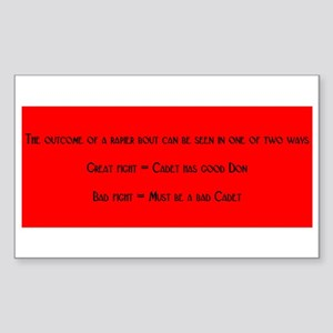 Good Don Bad Cadet Rectangle Sticker