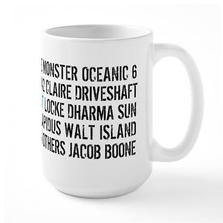 Lost Names Large Mug