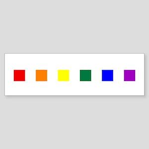 Rainbow Pride Squares Sticker (Bumper)