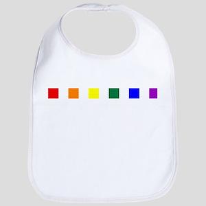 Rainbow Pride Squares Bib