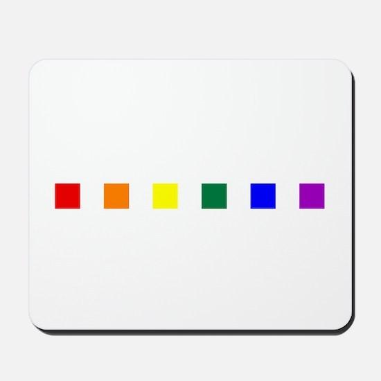 Rainbow Pride Squares Mousepad