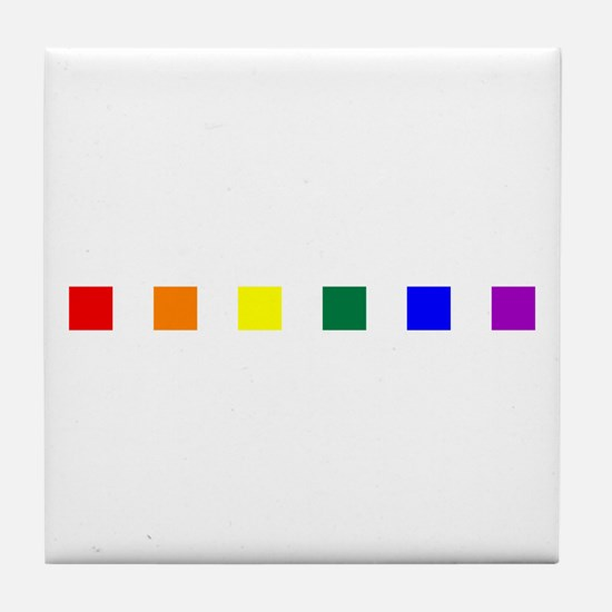 Rainbow Pride Squares Tile Coaster