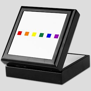 Rainbow Pride Squares Keepsake Box