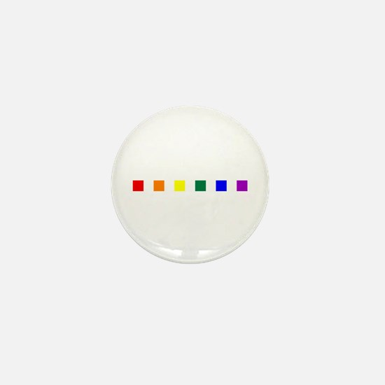 Rainbow Pride Squares Mini Button