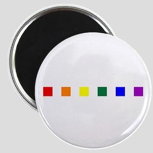 Rainbow Pride Squares Magnet