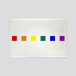 Rainbow Pride Squares Rectangle Magnet