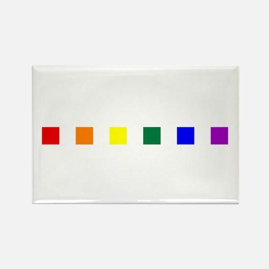 Rainbow Pride Squares Rectangle Magnet (10 pack)