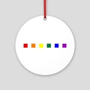 Rainbow Pride Squares Round Ornament