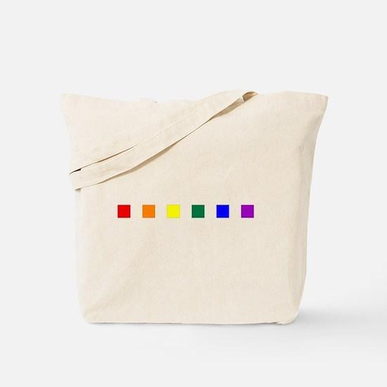 Rainbow Pride Squares Tote Bag