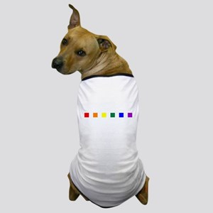 Rainbow Pride Squares Dog T-Shirt