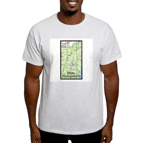 New Hampshire Stamp Ash Grey T-Shirt