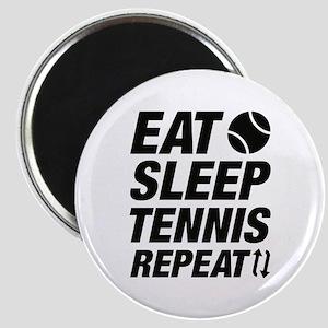 Eat Sleep Tennis Repeat Magnet