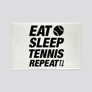 Eat Sleep Tennis Repeat Rectangle Magnet