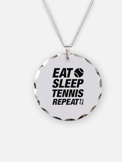 Eat Sleep Tennis Repeat Necklace