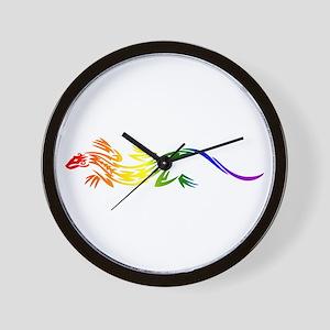 Rainbow Pride Lizard Wall Clock