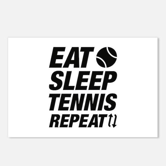 Eat Sleep Tennis Repeat Postcards (Package of 8)