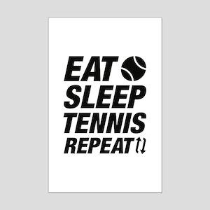 Eat Sleep Tennis Repeat Mini Poster Print
