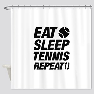 Eat Sleep Tennis Repeat Shower Curtain