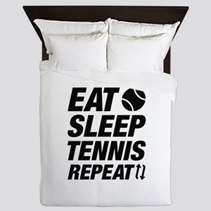 Eat Sleep Tennis Repeat Queen Duvet