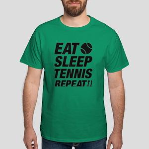 Eat Sleep Tennis Repeat Dark T-Shirt