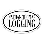 Logging Oval Sticker