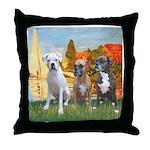 Regatta / 3 Boxers Throw Pillow