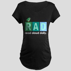 Bird Read Aloud Daily Books Maternity Dark T-Shirt