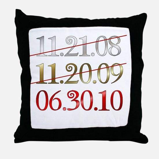 blank - dates Throw Pillow