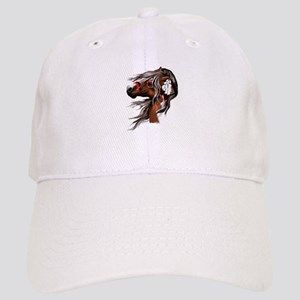Paint Horse and Feathers Cap
