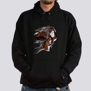 Paint Horse and Feathers Hoodie (dark)