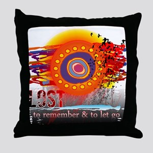Lost to Remember and to Let Go Throw Pillow