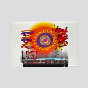 Lost to Remember and to Let Go Rectangle Magnet