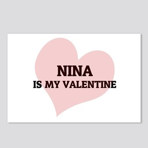 Nina Is My Valentine Postcards (Package of 8)