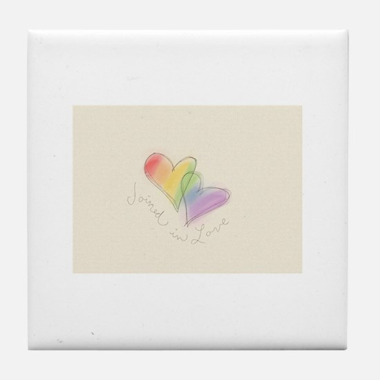 Joined with Love Tile Coaster