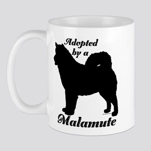 ADOPTED by a Malamute Mug