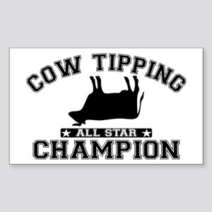 Cow Tipping All Star Champion Sticker (Rectangle)