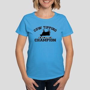 Cow Tipping All Star Champion Women's Dark T-Shirt