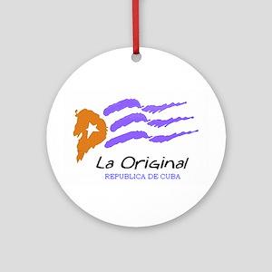 Cuban Flag/Bandera CubanaOrnament (Round)