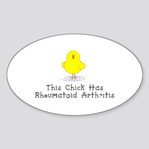 This Chick has RA Sticker (Oval)