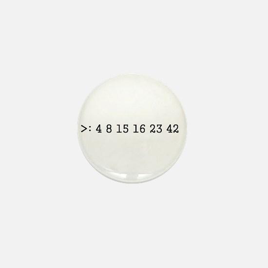 Unique Numbers Mini Button