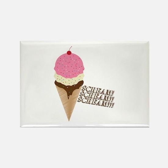 Scream for Ice Cream Rectangle Magnet