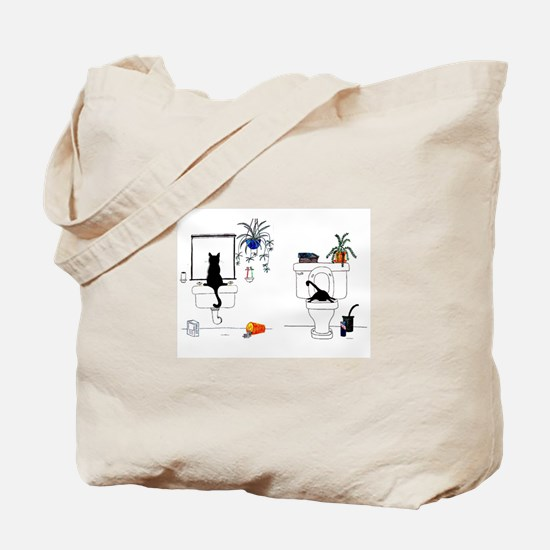Two Cats In The Bath Tote Bag