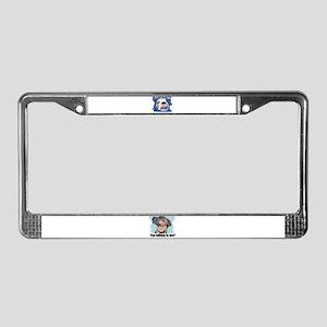BULLDOG ANTI LOVE License Plate Frame