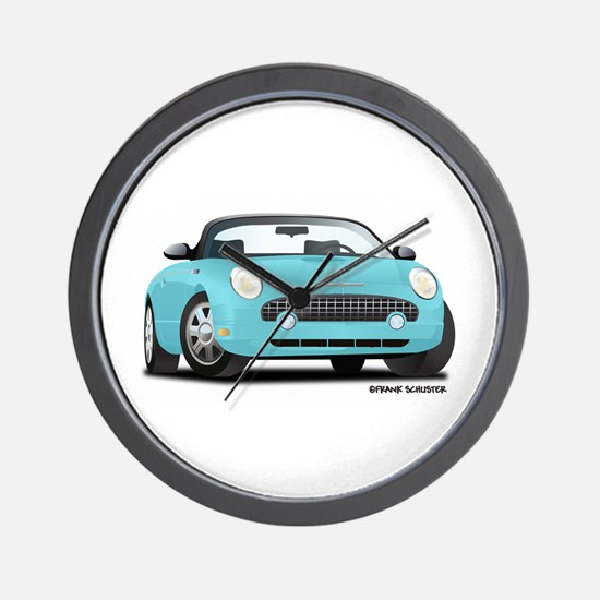 2002 03 04 05 T Bird Blue Wall Clock